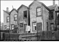 Historic photo from Monday, November 9, 1936 - Before - 38-44 Bright Street in disrepair in Corktown