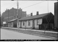 Historic photo from Saturday, January 9, 1937 - Fixed up houses on Power Street in Corktown
