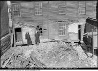 Historic photo from Monday, April 12, 1937 - Before - Rear of 16-18 Power Street in Corktown