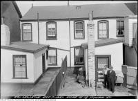 Historic photo from Tuesday, September 7, 1937 - Re-built - rear 16-18 Power Street in Corktown