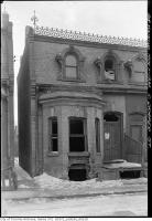 Historic photo from Monday, March 7, 1938 - 21 Draper Street being demolished in Wellington Place