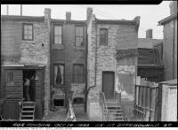 Historic photo from Friday, October 14, 1938 - Back of 115-117 Sherbourne Street in Old Town