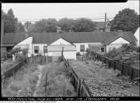 Historic photo from Monday, August 21, 1939 - Backyards of 109-117 Strachan Avenue in Stanley Park