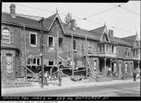Historic photo from Friday, June 6, 1941 - Construction at 258-64 Bathurst Street - still standing today in Trinity Bellwoods