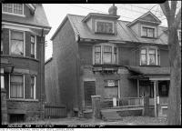 Historic photo from Tuesday, November 13, 1945 - Major structural damage at 305 1/2 Clinton St. in Bickford Park