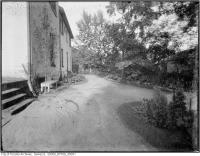 Historic photo from 1921 - Exterior view of gardens looking west from Woodlawn, on the south side in Summerhill