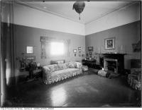 Historic photo from 1921 - Living room and furnishings of Woodlawn, north and west view in Summerhill