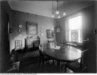 Historic photo from 1921 - Dining room and art at Woodlawn, south and east view in Summerhill