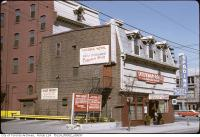 Historic photo from 1980 - Falconer Hotel - as the Spadina Hotel and Cabana Room on the second floor - King and Spadina in Wellington Place