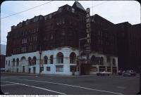 Historic photo from 1960 - Carls-Rite Hotel with Hotel Barclay sign in Downtown