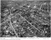 Historic photo from 1935 - Aerial views of Forest Hill area, showing intersection of Russell Hill and Old Forest Hill Roads in Forest Hill
