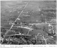Historic photo from 1935 - Aerial view of Forest Hill area, showing area east of Bathurst St. and north of Eglinton Ave. West in Forest Hill