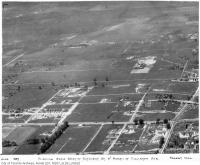 Historic photo from 1935 - Aerial view of Forest Hill area, showing area west of Bathurst St. and north of Eglinton Ave. West in Forest Hill