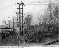 Historic photo from Wednesday, April 20, 1938 - Eglinton and Spadina showing McRonald property and Beltline tracks in Forest Hill