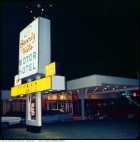 Historic photo from 1967 - Beverly Hills Seaway Motor Hotel (with The Hook and Ladder Club sign for Billy Daniels) in Downsview