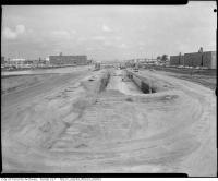 Historic photo from 1963 - Construction of the Spadina Expressway - Allen Road at Lawrence Avenue West. in Lawrence Heights