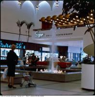 Historic photo from 1965 - Yorkdale Shopping Centre - Simpsons Court restaurant and Fairweather in Yorkdale