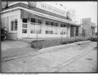 Historic photo from Tuesday, November 17, 1959 - Twin Boys Open Kitchen and Imperial bank of Canada - Keele Street widening at Wilson in Downsview
