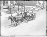 Historic photo from Friday, July 1, 1927 - No. 5 steamer in Centennial Parade, Bloor Street West at Bellair Street in Yorkville
