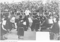 Historic photo from Tuesday, July 20, 1971 - Toronto Symphony on the rotating stage of the the Ontario Place Forum in Ontario Place