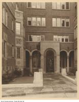 Historic photo from 1927 - Main entrance court of the Claridge Apartments (1 Clarendon Ave. at Avenue Road) in South Hill