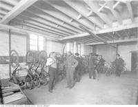 Historic photo from 1898 - Bicycle Storage area of the Toronto Lithographing Company - 680 King St.West in Wellington Place