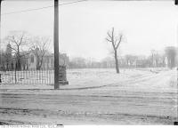 Historic photo from Saturday, February 14, 1914 - Trinity Park showing Gore Vale in right background in Trinity Bellwoods