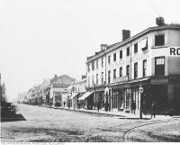Historic photo from 1866 - Northwest corner of Yonge and King streets in Downtown