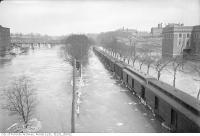 Historic photo from Tuesday, February 26, 1918 - Don flood, north of Wilton Avenue Bridge with Don Jail in background in Riverside-South Riverdale