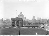 Historic photo from Tuesday, September 10, 1929 - Aerial view of Toronto from south of Toronto Harbour Commission building in Harbourfront