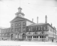 Historic photo from 1895 - City Hall St. Lawrence Market 1844-1899, Front Street East at Jarvis St. North elevation in St. Lawrence Market