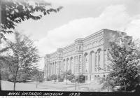 Historic photo from 1922 - Royal Ontario Museum south elevation in Royal Ontario Museum
