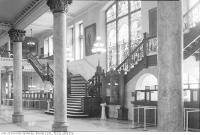 Historic photo from Friday, May 22, 1936 - Old City Hall foyer - stained glass, pillars, and art in City Hall