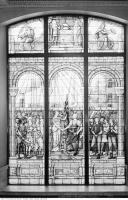 Historic photo from 1936 - Union of Commerce and Industry by Robert McCausland Limited - City Hall Memorial Window in City Hall
