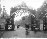 Historic photo from 1901 - Imperial Order of the Daughters of the Empire, arch at Bloor Street and Avenue Road in Royal Ontario Museum