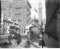 Historic photo from Wednesday, October 1, 1901 - Duke and Duchess of Cornwall and York Visit, arch at Richmond and Bay streets in Downtown