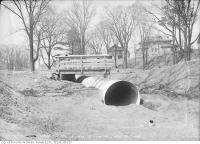 Historic photo from Thursday, April 15, 1915 - Briar Hill Avenue bridge west of Rosewell Avenue looking north in Lytton Park
