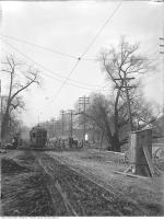 Historic photo from Wednesday, November 20, 1912 - Streetcar on muddy Davenport Road at Somerset in Hillcrest-Bracondale