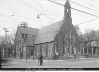 Historic photo from Sunday, April 20, 1924 - Church of the Redeemer, Bloor  and Avenue Road in Royal Ontario Museum