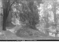 Historic photo from Wednesday, October 3, 1928 - River and winding road in Kilgour Park (Sunnybrook park) in Sunnybrook Park
