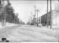 Historic photo from Monday, February 12, 1917 - Horse drawn sleds on Yonge Street looking north at Bedford Park in Bedford Park