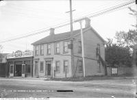 Historic photo from Wednesday, September 13, 1911 - Sellers Hotel location - Warren Motor Cars garage - southwest corner of Yonge Street and St. Clair Avenue in Deer Park