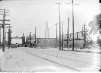Historic photo from Wednesday, June 17, 1914 - View south on Dufferin Street from Springhurst Avenue (view of 1910 Dufferin St. Gate) in CNE