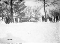 Historic photo from Saturday, February 14, 1914 - Ski jump, High Park in High Park