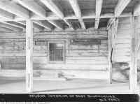 Historic photo from Wednesday, October 25, 1933 - Interior of east blockhouse, Old Fort York in Fort York