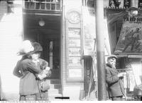 Historic photo from Tuesday, April 8, 1913 - Red Mill Theatre, north of Queen Street on Yonge Street in Garden District