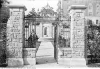 Historic photo from Saturday, October 19, 1935 - Old Alexander Muir Memorial Gardens Gates in Mount Pleasant Cemetery
