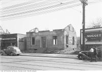Historic photo from Monday, May 3, 1937 - 2707 Yonge Street, old mud and straw brick house, east side, north of Blythwood Road in Sherwood Park