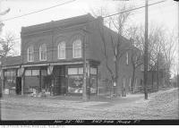 Historic photo from Friday, November 25, 1921 - J Atkinsons Groceries  3162-3164 Yonge Street, south west corner at Bedford Park in Bedford Park