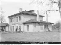 Historic photo from Tuesday, April 20, 1937 - Bracondale Hill (1847 - 1937) - Charles Turner house - now Hillcrest Park in Davenport